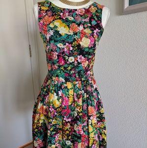 Zara Basic Floral Mini Dress